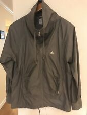 ADIDAS Lightweight CLIMA365 Gray Zip Up Mock Neck Running Track Jacket Size M