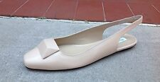 Max Mara Aletta Womens Shoes Biege Slingback Flats Size 8.5 (39) NEW $475