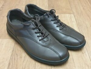 HOTTER WOMENS TONE LACE UP BROWN COMFORT SHOES UK SIZE 6.5 EU SIZE 40