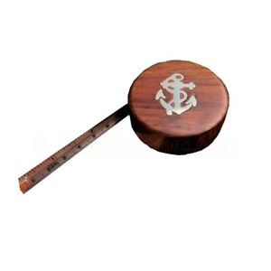 Naval Style Wooden Tape Measure - Nautical Desktop Stationery Gift - Fast Post!