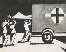 Nevinson Wynne Richard Christopher Night Arrivals Print 11 x 14  #  #3224