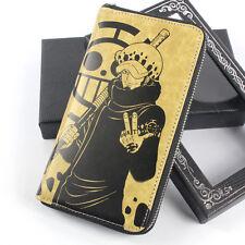 One Piece POP Trafalgar Law Cosplay Long Zip Wallet Purse Bag Card Holder in Box