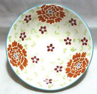 Dutch Wax Handpainted Ceramic Large Floral Serving Bowl Centerpiece New