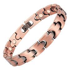 Bracelet magnétique cuivre vintage avec des aimants - modèle Princier