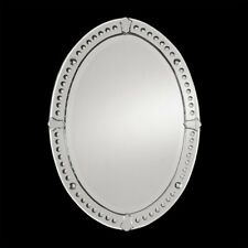 Uttermost Graziano Frameless Oval Wall Mirror with Convex Circles
