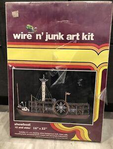 "1983 Wire N' Junk Art Kit Showboat 16"" x 22"" Open Door Enterprises Sealed New"