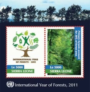 Sierra Leone 2011 - International Year of the Forests Stamp - S/S MNH