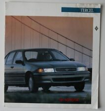 TOYOTA TERCEL 1991 brochure - French - Canada - HS2003000718