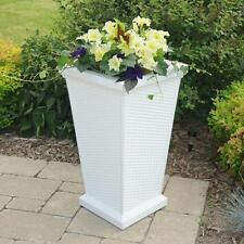 "Mayne Wellington Patio Tall Planter 16x16x28"" White 5863-W"
