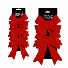 rouge velours noeuds - Décoration sapin de Noël - Taille au choix