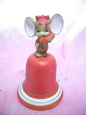 *Rare Vtg * Lefton Valentine Mouse on Red Phone Bell Calling to Say I Love You!