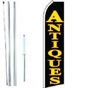 Antiques Swooper Flag With Complete Hybrid Pole Set