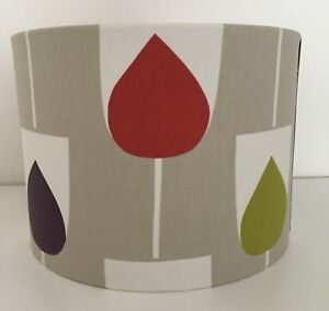 Scion Sula Spice/Rose/graphite Drum Fabric Lampshade (15 20 25 30 35 40cm)