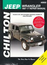 1987-2017 Jeep Wrangler Chiltons Repair Service Workshop Shop Manual 3084