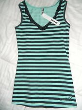 Women's DKNY Gray & Turquoise Top Size 14/16 Or Juniors Small-NWT