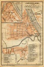 Yaroslavl town/city plan. Russia. Jarosslawl. BAEDEKER 1912 old antique map