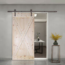 X-Panel Solid Core Knotty Pine Interior Barn Door Slab