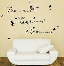 Hogar Decoración pegatinas de pared arte de vivir reír Amor citar Escritura