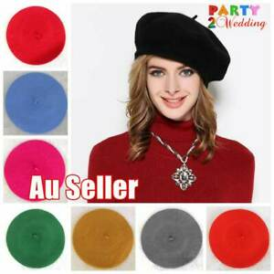 Women's Ladies Unisex Acrylic Wool French Beret Newsboy Hat Cap Winter Warm