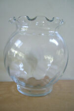 """Clear Glass Fish Bowl  Or Vase   5.5"""" Tall  X 4"""" Wide Fish Bowl"""