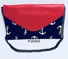 J.Crew Nautical Clutch Shoulder Bag Anchors