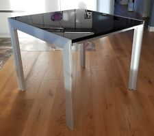 Tavolo Bontempi/Ingenia vetro nero temperato 90 x 90 cm allungabile 180 x 90 cm