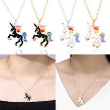 Women Chic Clavicle Chain Necklace Animal Unicorn Pendant Statement Girls Gifts