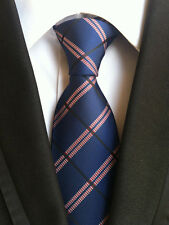 Classic Men's Neck Tie Silk Necktie Jacquard Woven Plaids Checks Striped Ties