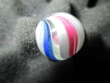 """Early Antique German Onion Skin 11/16"""" Beach Ball Pink Turquoise Blue Marble"""