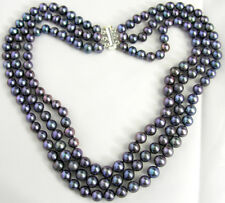 "Cultured Pearl Necklace 17-19"" 3 