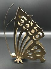 Vintage Brass Butterfly Figurine with Antennae