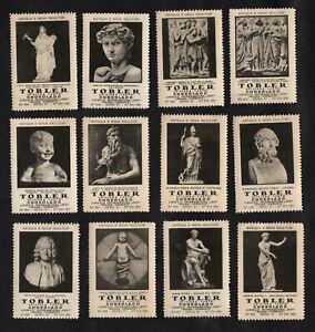 Famous Pieces Of Sculpture Tobler Poster Stamp Card Set 1922 Art Venus Voltaire