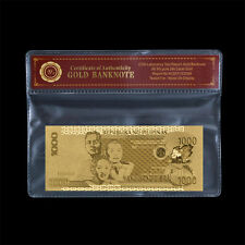 WR Philippines 1000 Pesos Gold Foil Bank Note /w COA Frame Christmas Gifts Dad