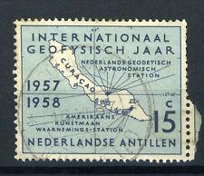 NL. ANTILLEN 270 gestempeld 1957 - Internationaal Geofysisch Jaar.