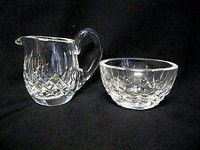 WATERFORD Crystal LISMORE Mini Miniature  Cream Sugar Bowl Vintage marked