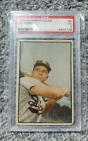 1953 BOWMAN COLOR VIC WERTZ #2 PSA 3 GRADED - VG Tigers Indians Red Sox Legend