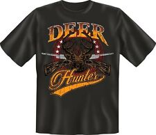 T-Shirt - DEER Hunter - Rotwild Jäger jagen Grösse S - XXXL