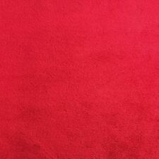 Red Solid Minky Plush Soft Smooth/Plain ,Blanket, lining, Fabric By The Yard