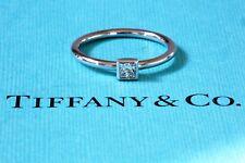 Tiffany & co Diamond Engagement Bezet Platinum Solitaire Ring 0.15ct