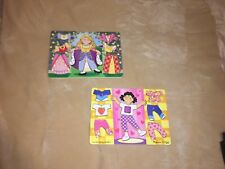 Set Of Two Melissa and doug Peg Puzzles paper doll puzzles & Princess Puzzle