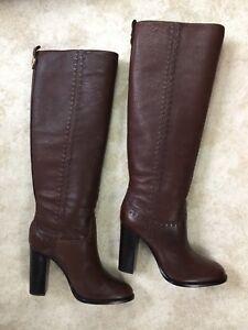 Tory Burch Leather Block-Heel Knee Boots, US 5 M