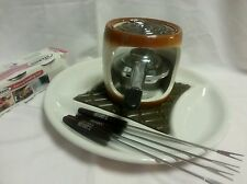 Hershey's Smores Maker with 4 Fondue Forks White and Brown