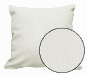 Pb308a Cream Faux Leather Skin Soft PU Cushion Cover/Pillow Case*Custom Size*