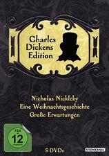 CHARLES DICKENS Edición UN CUENTO DE NAVIDAD Nicholas Nickleby 5 Caja de DVD