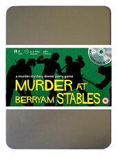 Asesinato En berryam establos de caballos de carreras Dvd Crimen Y Misterio Cena 8 Jugadores