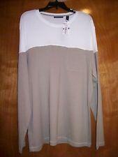 Men's PERRY ELLIS Long sleeve Crewneck Casual Shirt - Size XXL - NWT