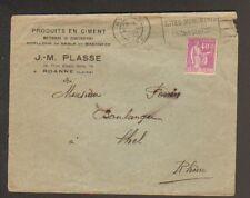 """ROANNE (42) PRODUITS en CIMENT pour le BATIMENT """"J.-M. PLASSE"""" en 1933"""