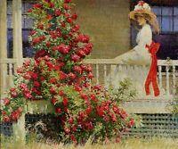 "Art Poster Philip Leslie Hale The Crimson Rambler 24"" X 26"" Printed In France"
