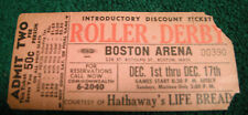 VINTAGE BOSTON ARENA ROLLER DERBY DISCOUNT TICKET ADMT TWO HATHAWAY'S LIFE BREAD
