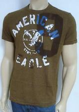 American Eagle Outfitters AEO 9 Mens Brown Cotton Blend T-Shirt New NWT